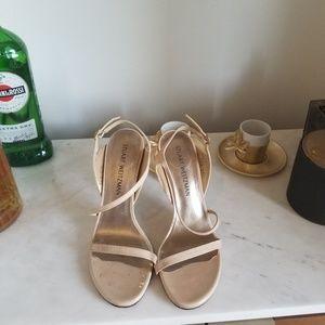 Stuart Weitzman nude strappy heels